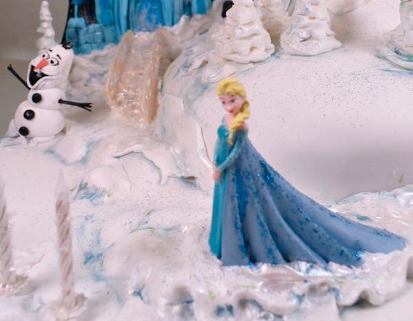 Tarta Elsa Frozen